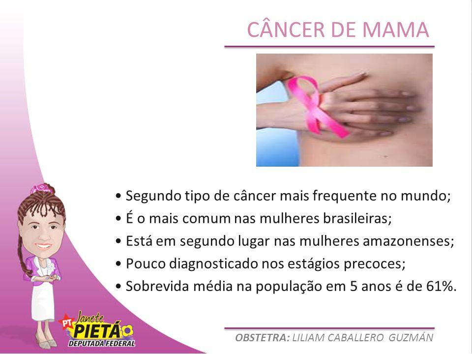• Segundo tipo de câncer mais frequente no mundo;