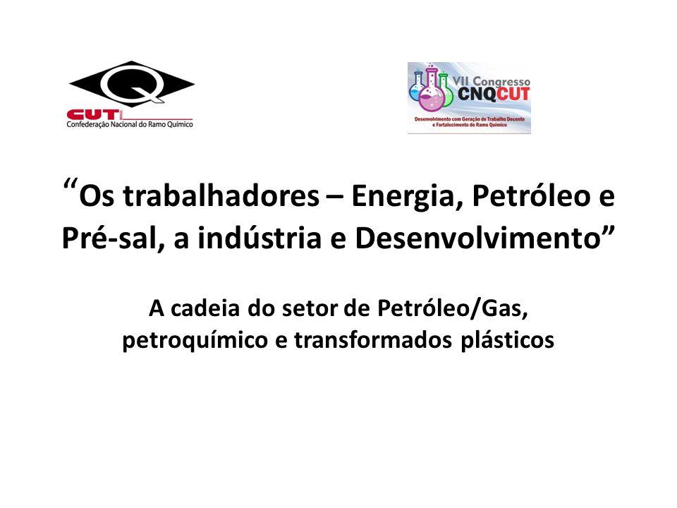 Os trabalhadores – Energia, Petróleo e Pré-sal, a indústria e Desenvolvimento
