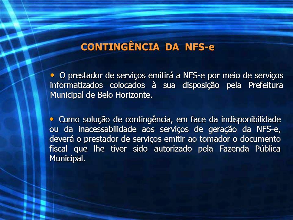 CONTINGÊNCIA DA NFS-e