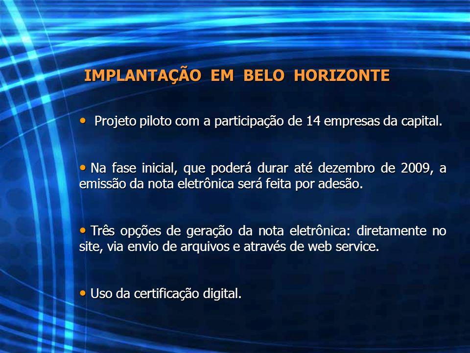 IMPLANTAÇÃO EM BELO HORIZONTE