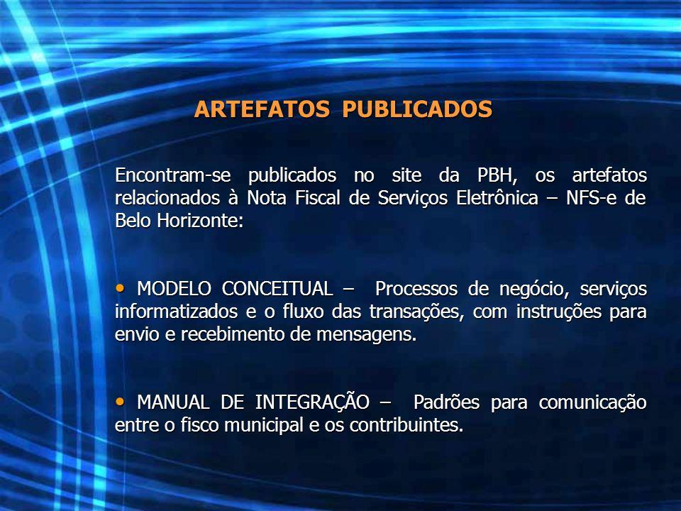 ARTEFATOS PUBLICADOS