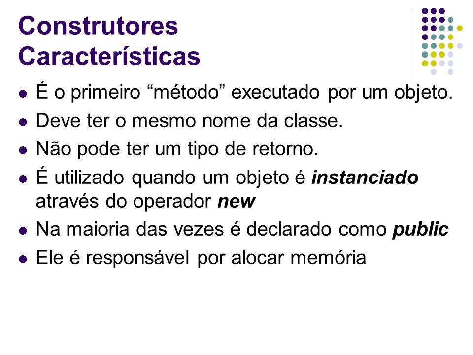 Construtores Características