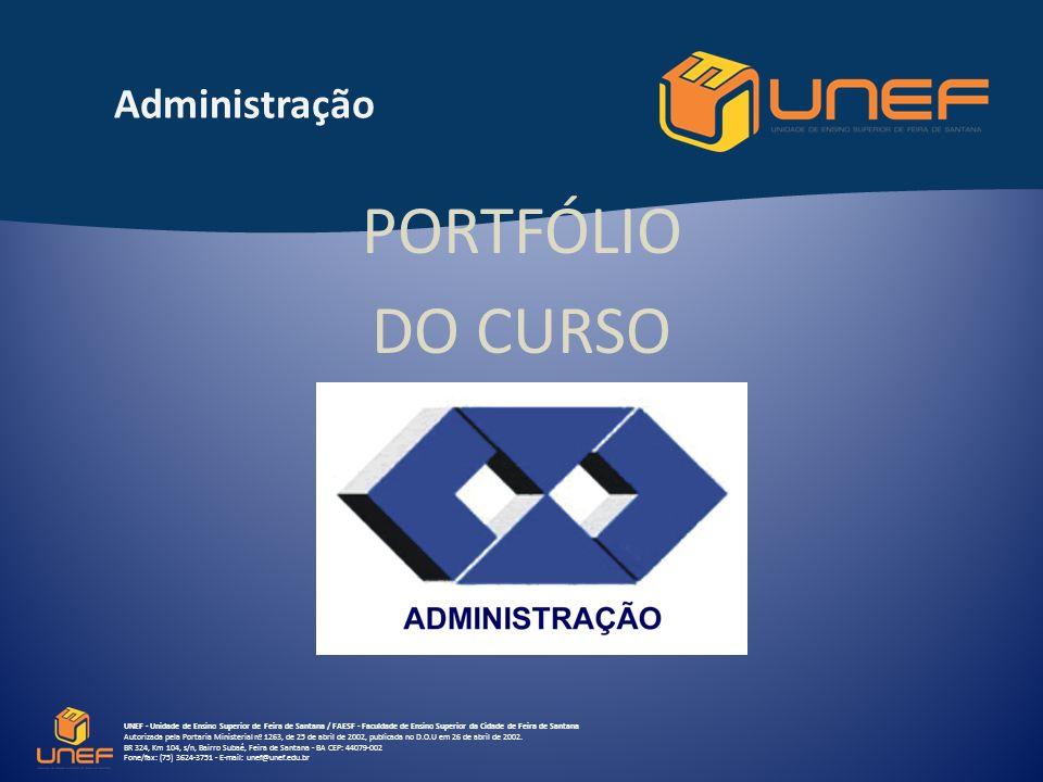 PORTFÓLIO DO CURSO Administração
