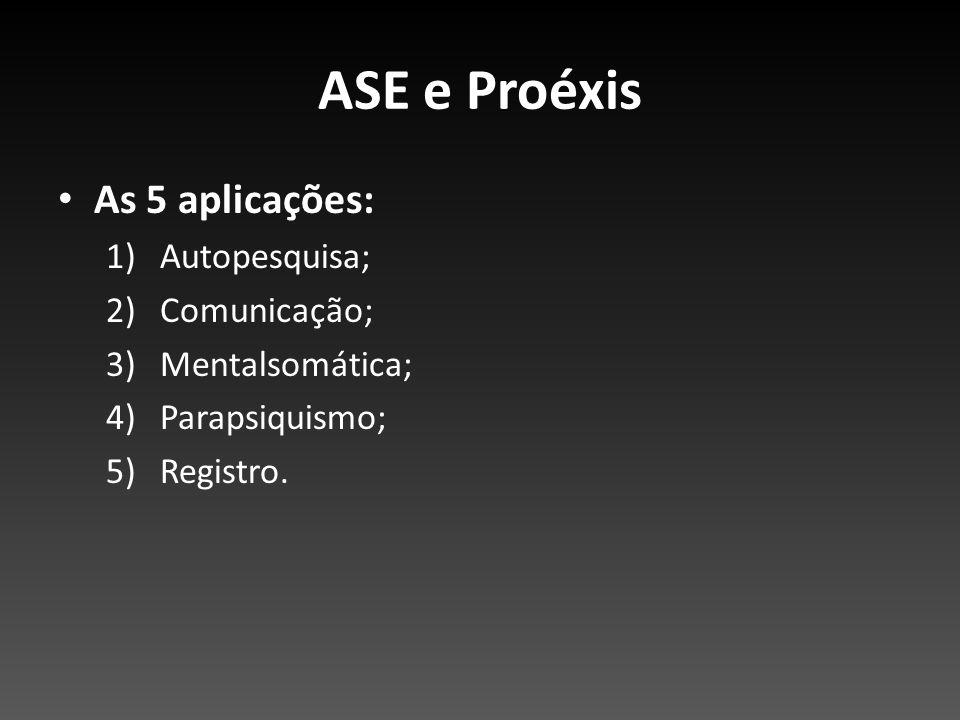 ASE e Proéxis As 5 aplicações: Autopesquisa; Comunicação;
