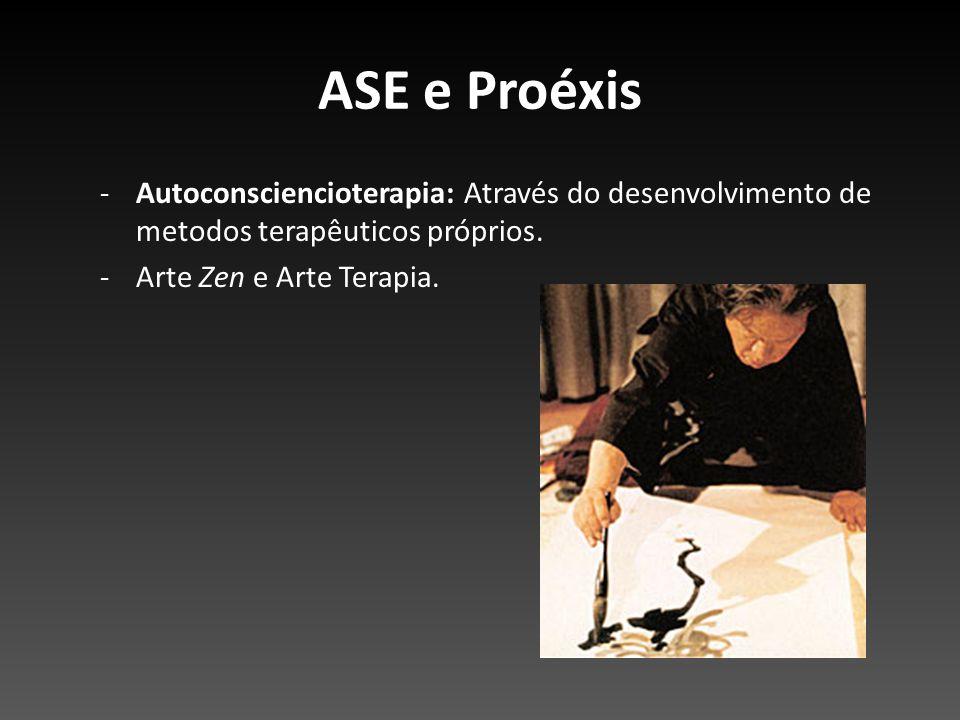ASE e Proéxis Autoconsciencioterapia: Através do desenvolvimento de metodos terapêuticos próprios.