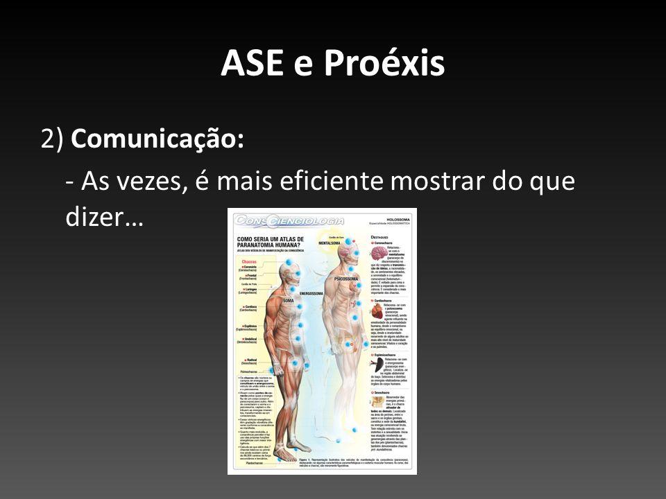 ASE e Proéxis 2) Comunicação: - As vezes, é mais eficiente mostrar do que dizer…