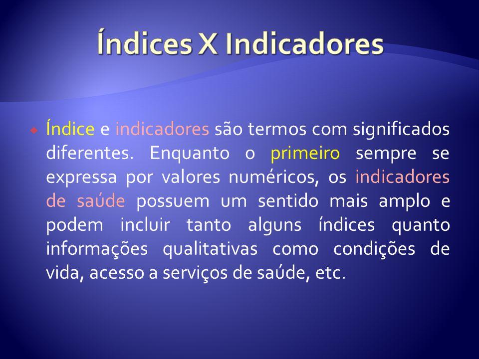 Índices X Indicadores