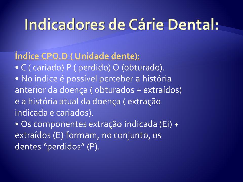 Indicadores de Cárie Dental: