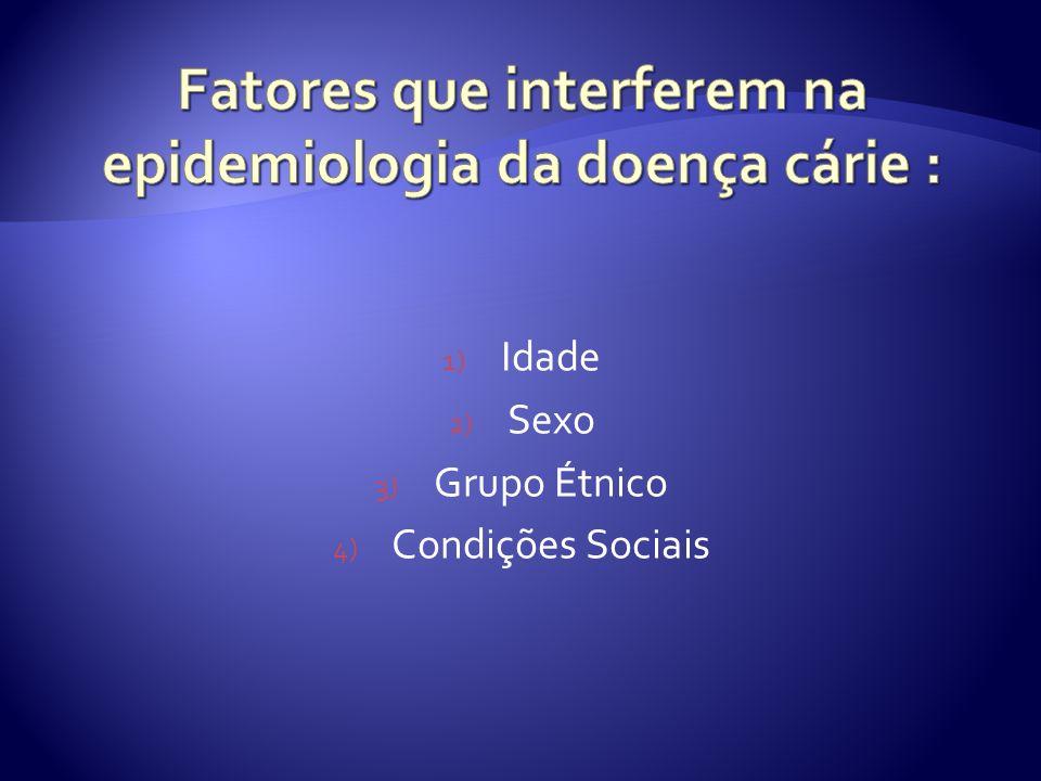 Fatores que interferem na epidemiologia da doença cárie :