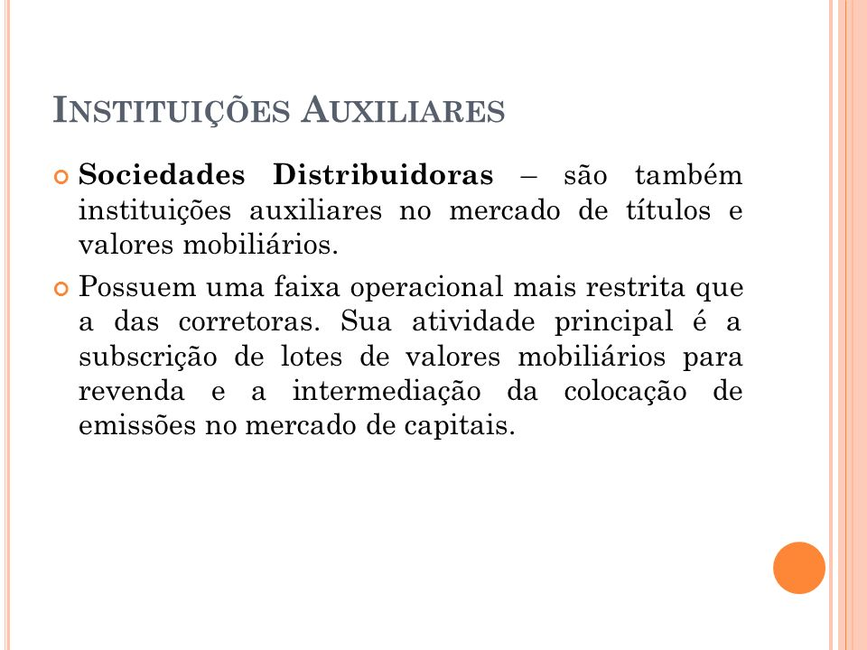 Instituições Auxiliares
