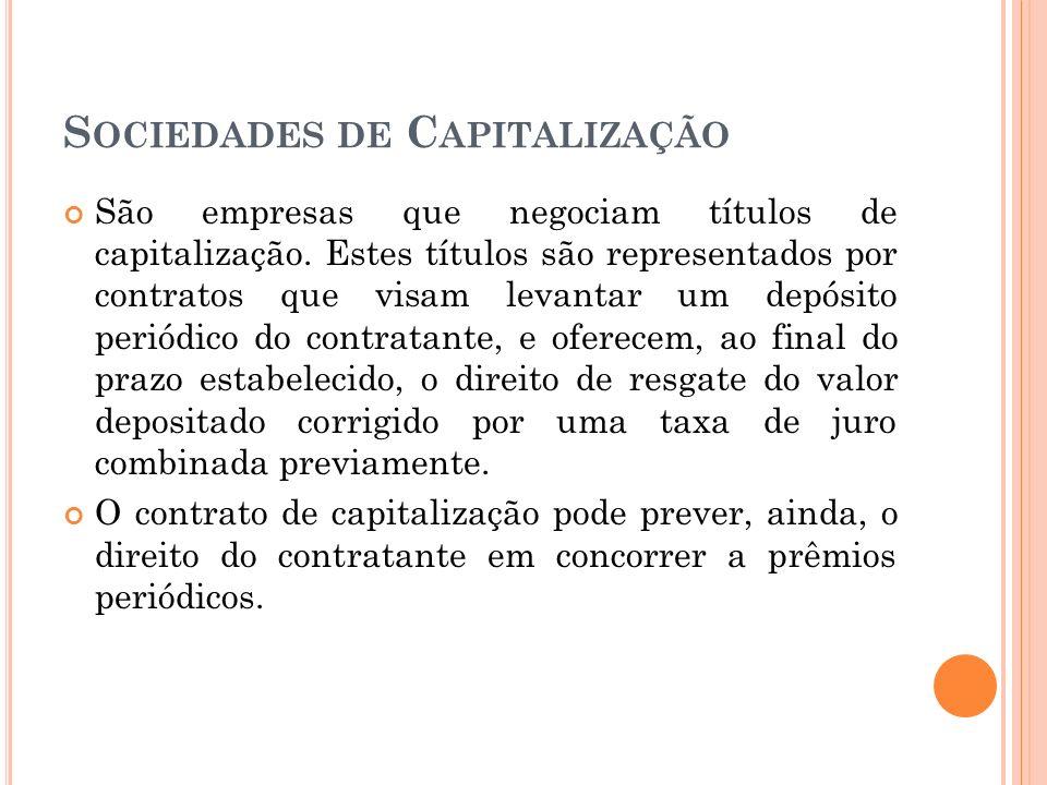 Sociedades de Capitalização