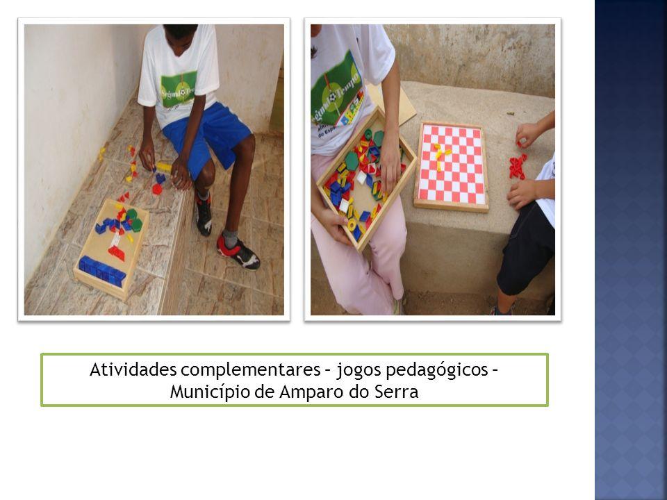 Atividades complementares – jogos pedagógicos – Município de Amparo do Serra