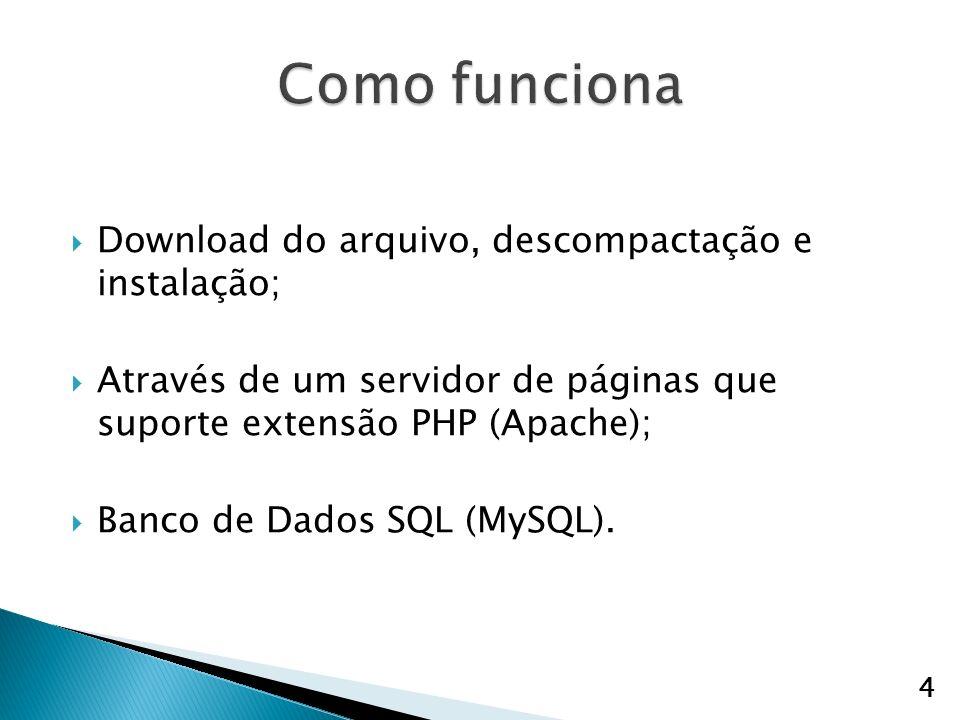 Como funciona Download do arquivo, descompactação e instalação;