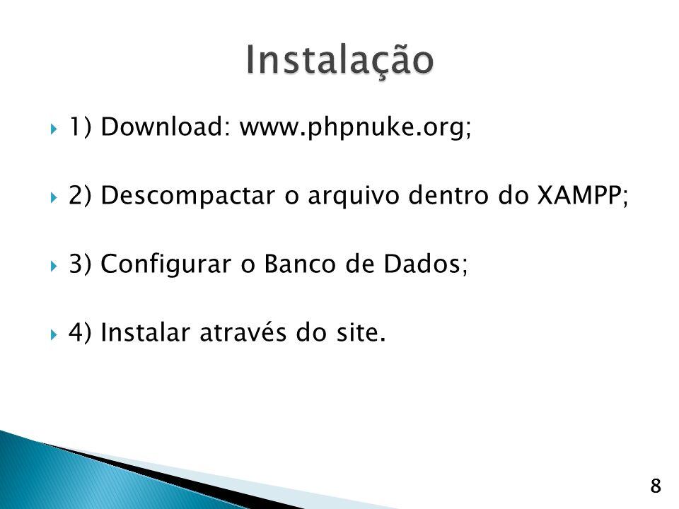 Instalação 1) Download: www.phpnuke.org;
