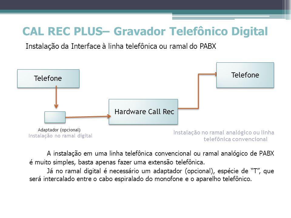Instalação no ramal analógico ou linha telefônica convencional