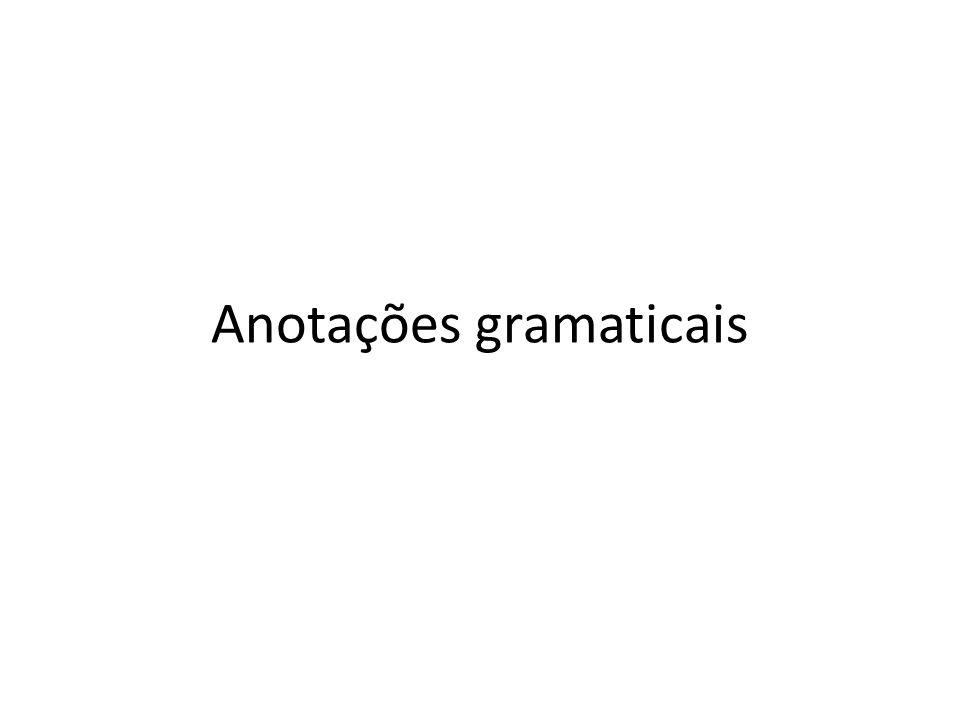Anotações gramaticais