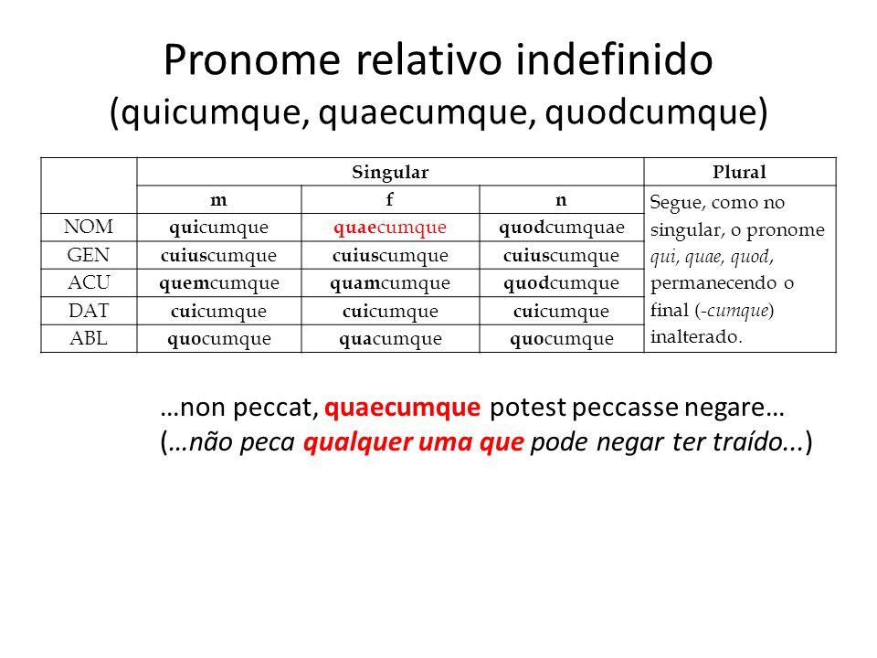 Pronome relativo indefinido (quicumque, quaecumque, quodcumque)