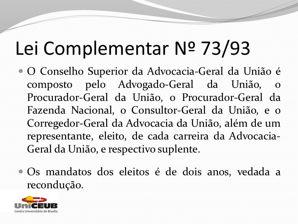 Lei Complementar Nº 73/93