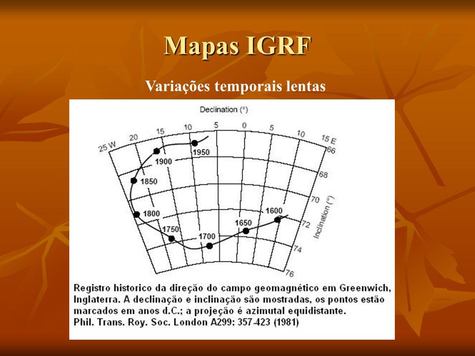 Mapas IGRF Variações temporais lentas