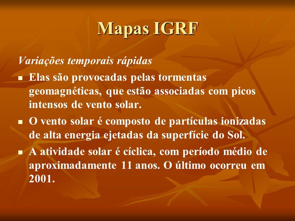 Mapas IGRF Variações temporais rápidas