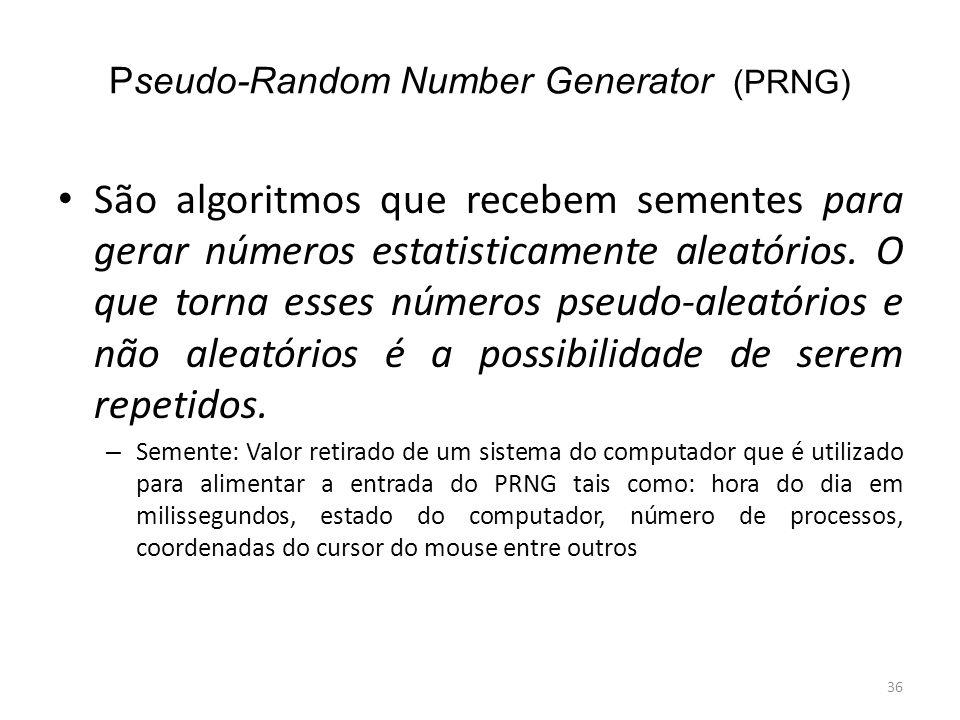 Pseudo-Random Number Generator (PRNG)