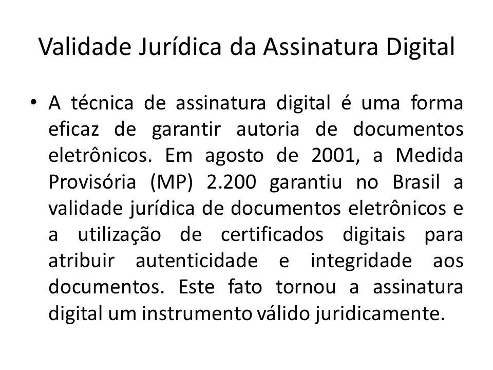 Validade Jurídica da Assinatura Digital