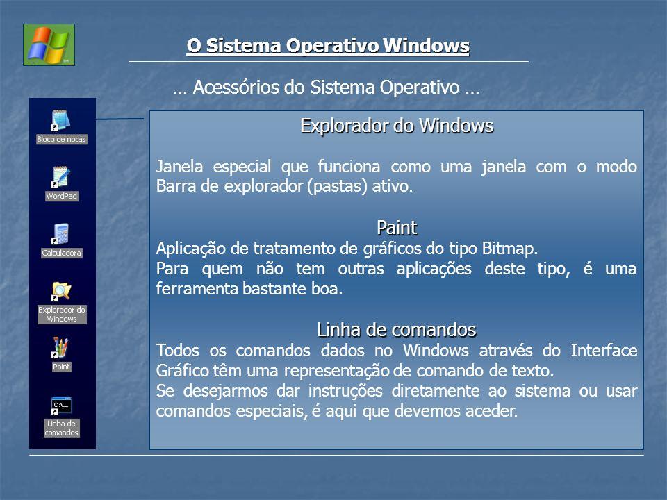 O Sistema Operativo Windows