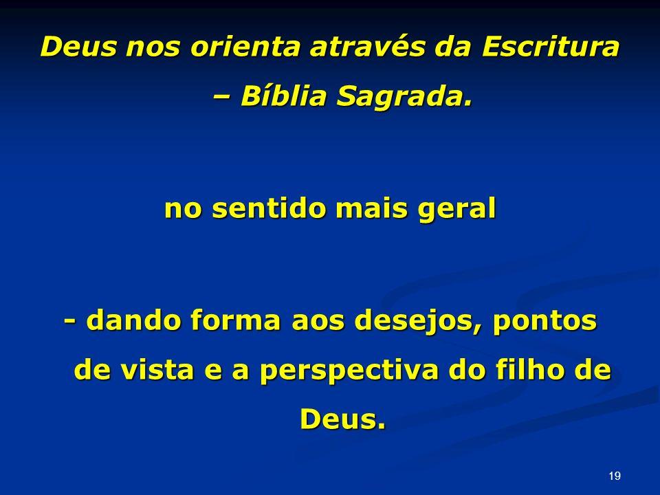 Deus nos orienta através da Escritura – Bíblia Sagrada