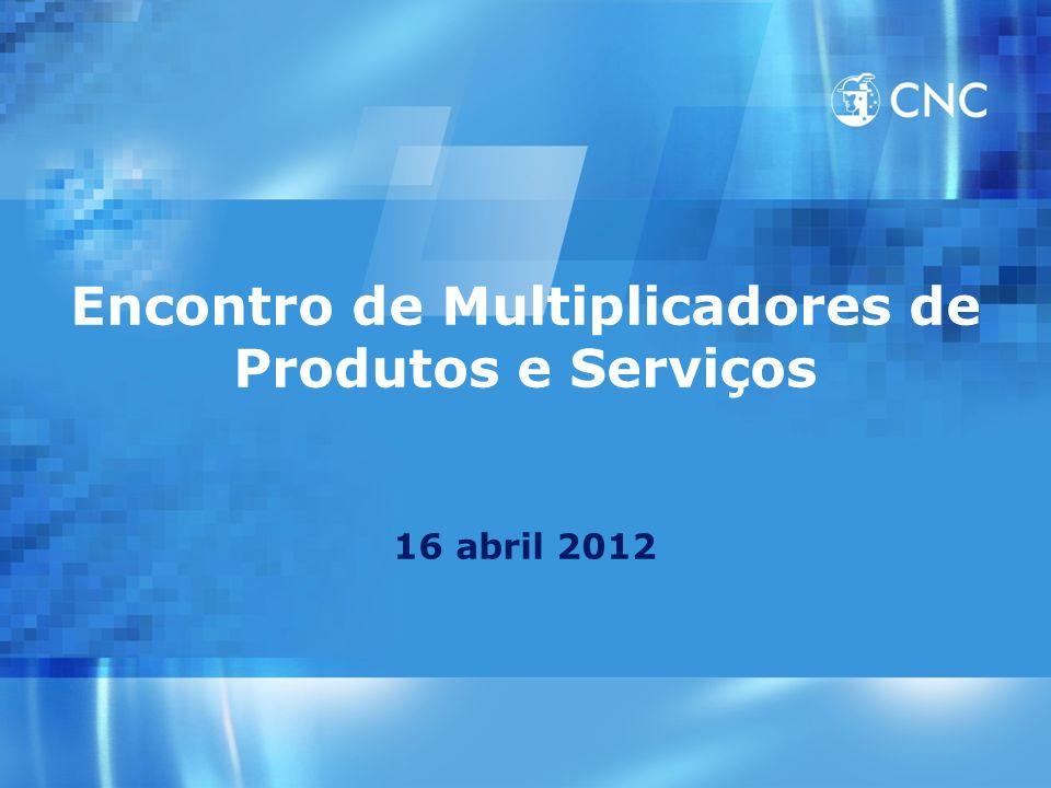 Encontro de Multiplicadores de Produtos e Serviços 16 abril 2012