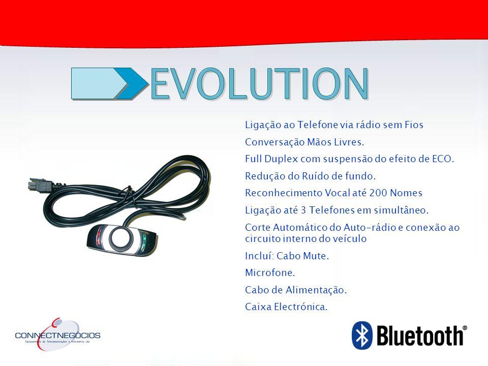 EVOLUTION Ligação ao Telefone via rádio sem Fios