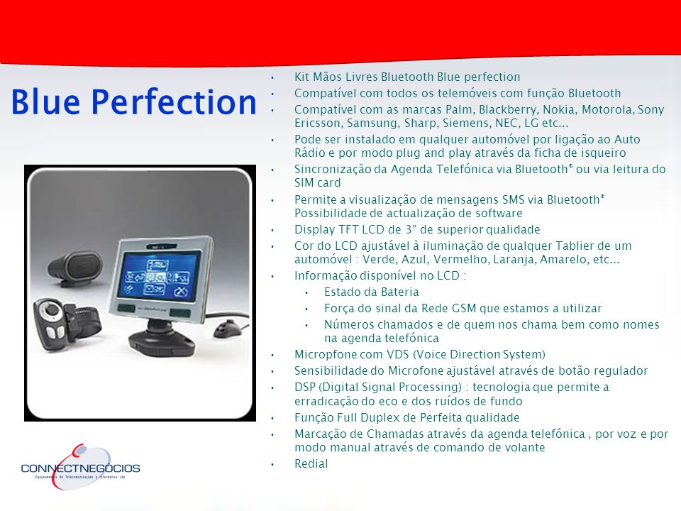 Blue Perfection Kit Mãos Livres Bluetooth Blue perfection