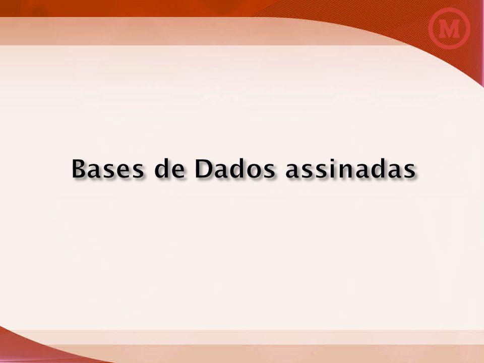 Bases de Dados assinadas