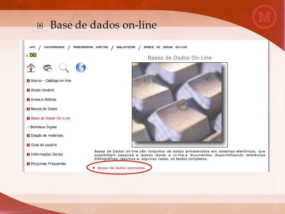 Base de dados on-line