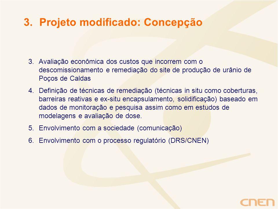 Projeto modificado: Concepção