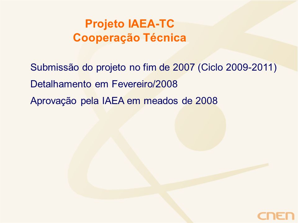 Projeto IAEA-TC Cooperação Técnica