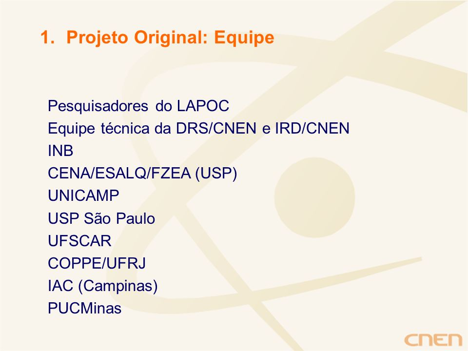 Projeto Original: Equipe
