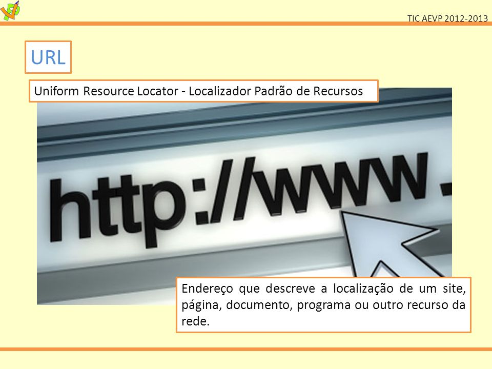 URL Uniform Resource Locator - Localizador Padrão de Recursos