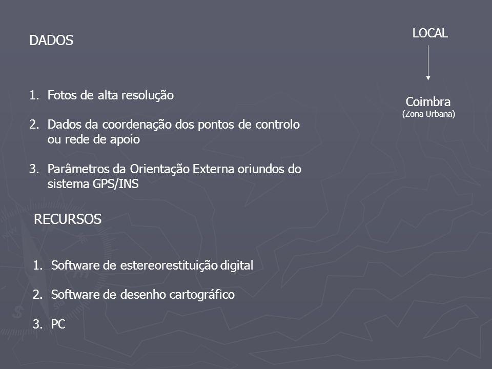 DADOS RECURSOS LOCAL Fotos de alta resolução Coimbra