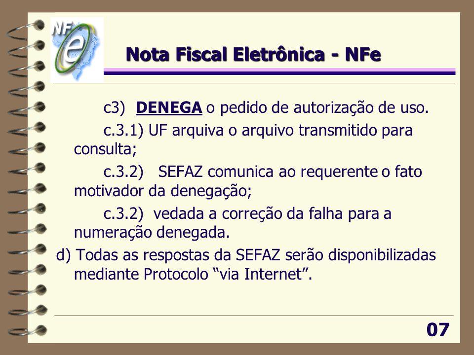 Nota Fiscal Eletrônica - NFe
