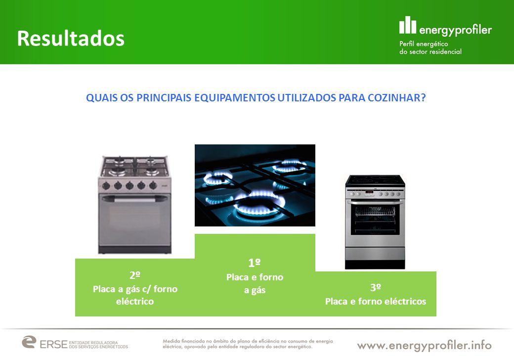 Resultados QUAIS OS PRINCIPAIS EQUIPAMENTOS UTILIZADOS PARA COZINHAR 1º. Placa e forno. a gás. 2º.