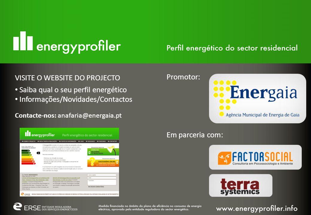VISITE O WEBSITE DO PROJECTO Saiba qual o seu perfil energético