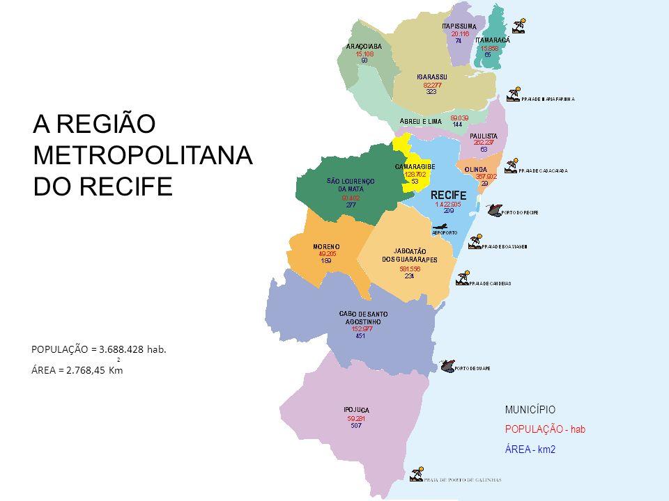 A REGIÃO METROPOLITANA DO RECIFE