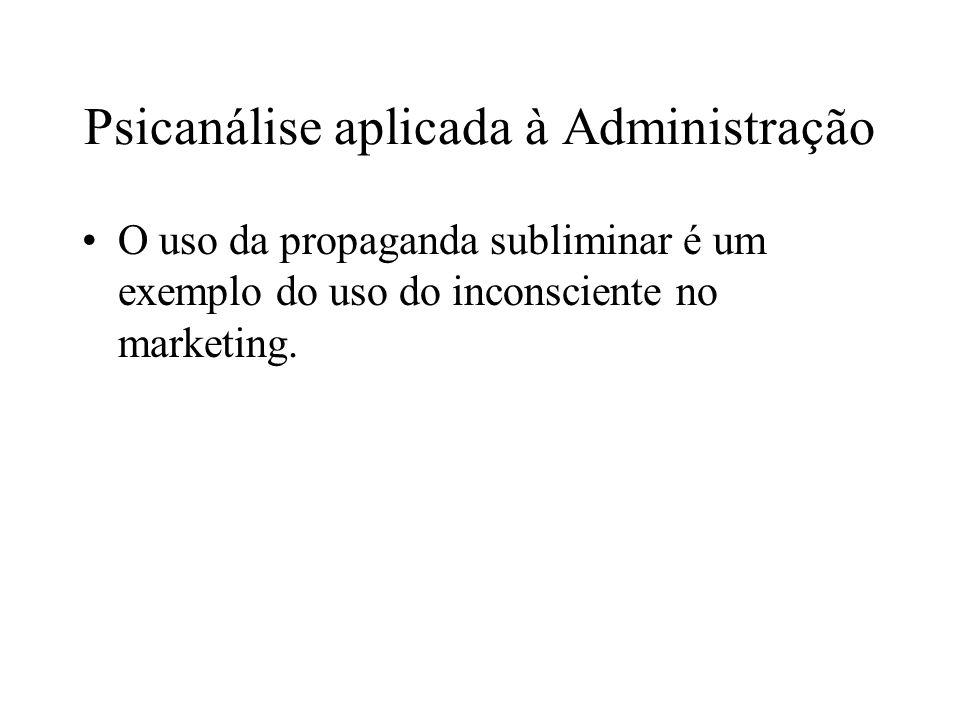 Psicanálise aplicada à Administração