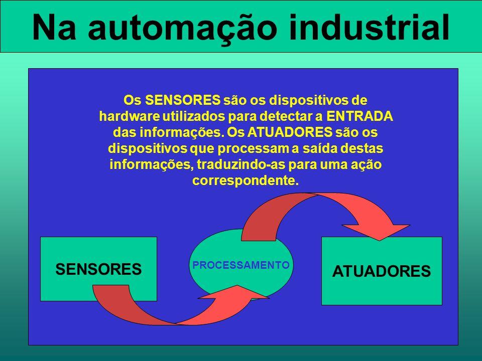 Na automação industrial