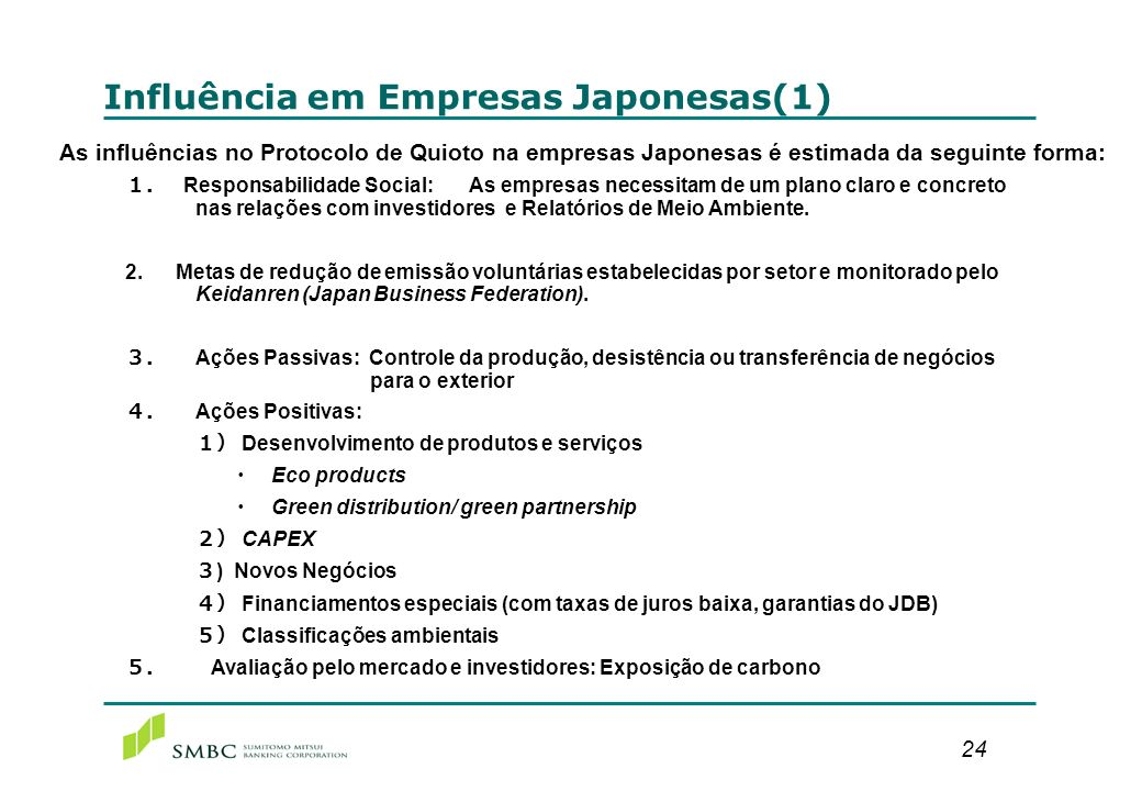 Influência em Empresas Japonesas (2)