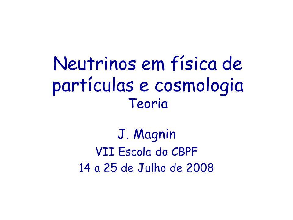 Neutrinos em física de partículas e cosmologia Teoria