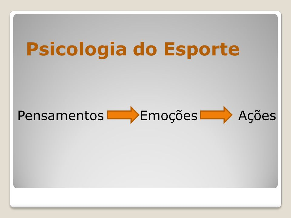 Psicologia do Esporte Pensamentos Emoções Ações