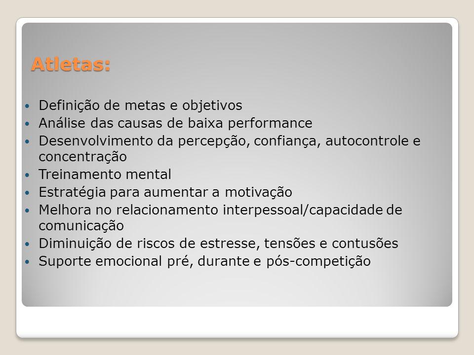Atletas: Definição de metas e objetivos