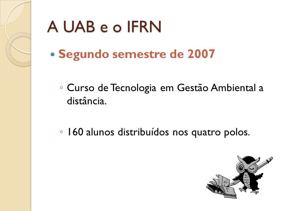 A UAB e o IFRN Segundo semestre de 2007