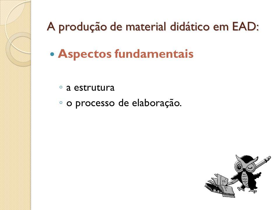 A produção de material didático em EAD: